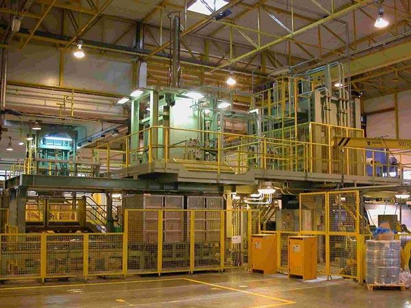 Impianto automatico per l'imballaggio di tow