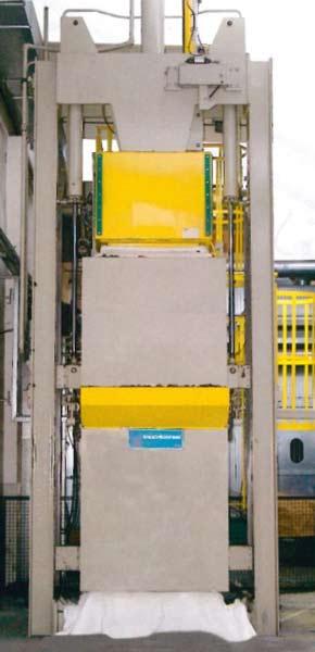 Pressa per l'imballo di fibra in fiocco con medie produzioni